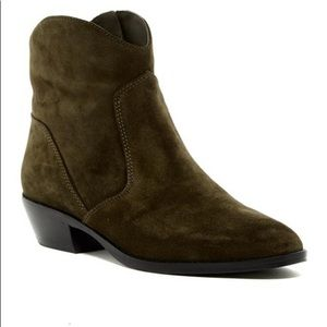 Via Spiga Green Franka Suede Booties
